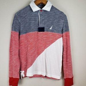 Nautica slim fit long sleeves polo shirt sz XS
